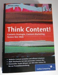 "Fachbuch ""Think content"""