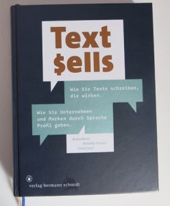 Text sells! Titelseite
